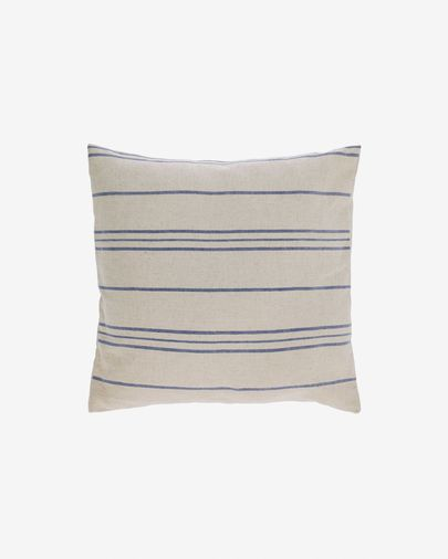 Ziza 100% cotton cushion cover with fine blue and white stripes 45 x 45 cm