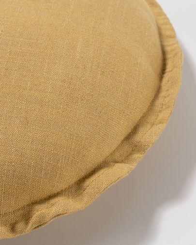 Kussenhoes Maelina Ø 45 cm mosterd