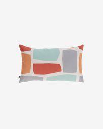 Calantina multicoloured cushion cover with squares 30 x 50 cm