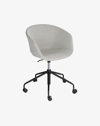 Sedia da scrivania Yvette grigio chiaro