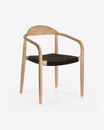 Black Nina chair eucalyptus FSC 100%