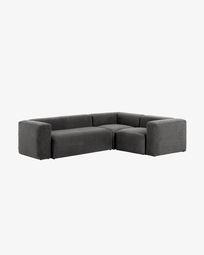 3-zits hoekbank Blok grijs 290 x 230 cm