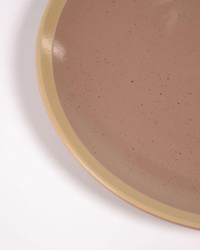 Plat de postres Tilia ceràmica color marró clar
