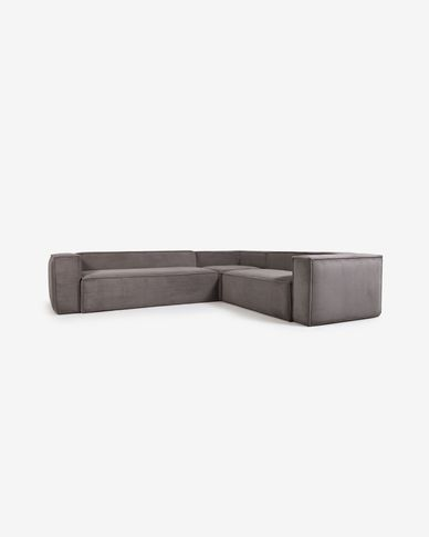 Sofà raconer Blok 5 places pana gris 320 x 290 cm