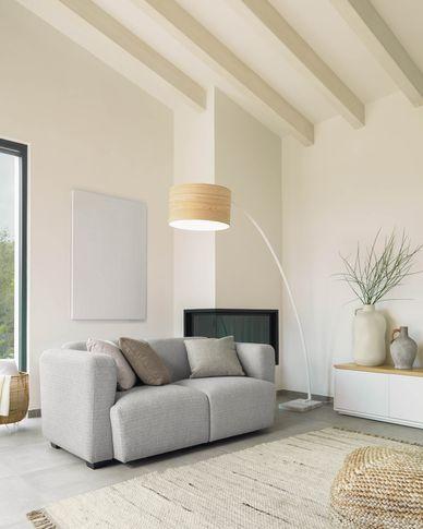 Legara 2-seater sofa in light grey 160 cm