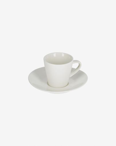 Tassa de cafè petit amb plat Pierina porcellana blanca