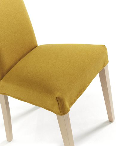 Freda chair cover mustard
