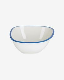 Odalin large porcelain bowl in blue and white