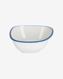 Bol grande Odalin porcelana blanco y azul