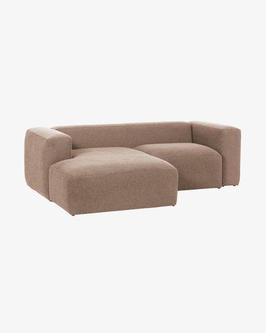 Divano Blok 2 posti chaise longue sinistra rosa 240 cm