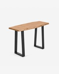Alaia console table made from solid acacia wood with natural finish 115 x 40 cm