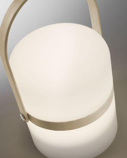 Lámpara de sobremesa Ridley de polietileno marrón