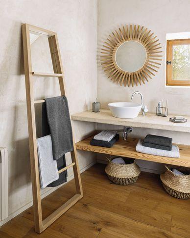 Miekki small bath towel dark grey