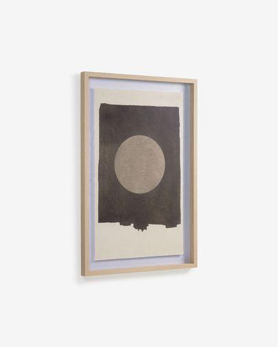 Cuadro Naira círculo negro 60 x 90 cm