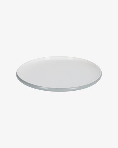 Sadashi plat bord grijs-wit porselein