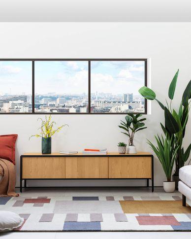 Nadyria oak wood TV Stand  180 x 50 cm