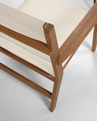 Hilda solid acacia outdoor armchair in beige FSC 100%