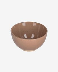 Tilla ceramic bowl in light brown