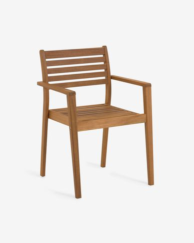 Hanzel solid acacia garden chair