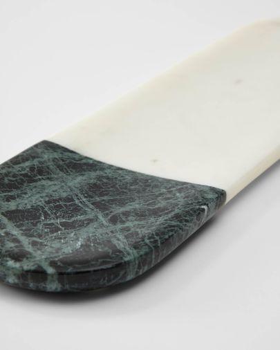 Safata Amilia de marbre blanc i verd