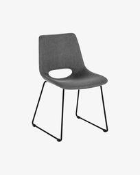 Zahara stoel donkergrijs