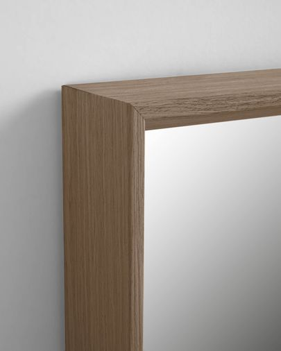 Nerina mirror walnut finish 52 x 152 cm