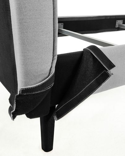 Bed Venla 180 x 200 cm grijs