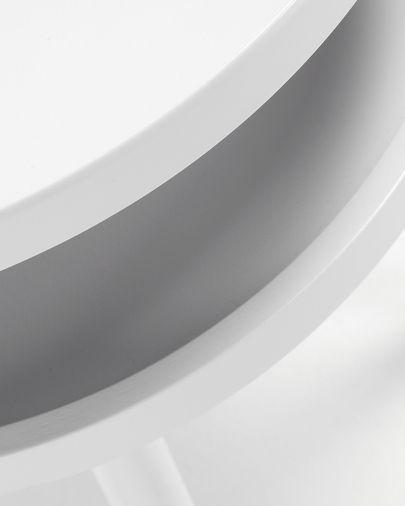 Kurb B bijzettafel Ø 40 cm wit