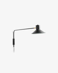 Aria wall lamp black