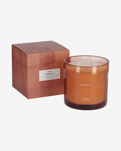 Citronella scented candle in orange 750 g