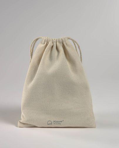 Guirnalda con banderines Zalia 100% algodón orgánico (GOTS) granate
