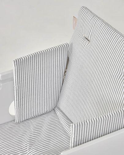 Nuun Hochstuhl Kissen, 100% Bio-Baumwolle (GOTS), blaue Streifen