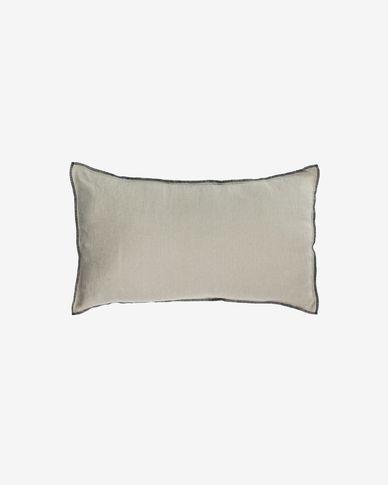 Funda cojín Elea 100% lino gris claro 30 x 50 cm