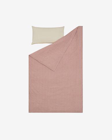 Komplet Giorgi prześcieradło i poszwa na kołdrę i poduszkę bawełna 130 x 200 cm