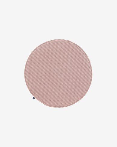 Almofada para cadeira redonda Sora bombazine rosa Ø 35 cm