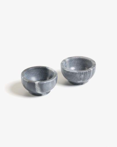 Set 2 bols Callhan mármol gris oscuro