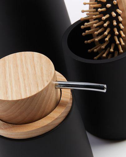 Zwarte toiletborstel met beukenhout Jenning