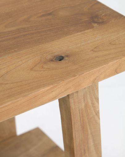 Safara solid recycled teak footstool 50 x 32 cm