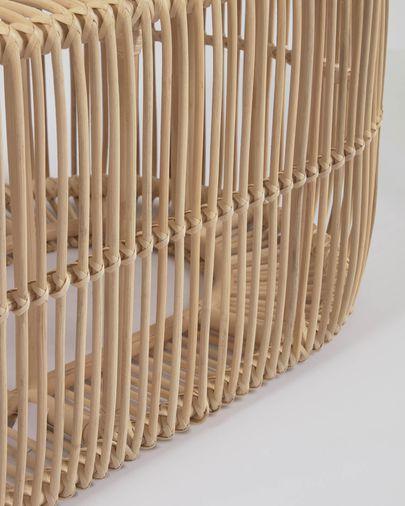 Mesa de centro Lael de ratán con acabado natural Ø 110 x 60 cm