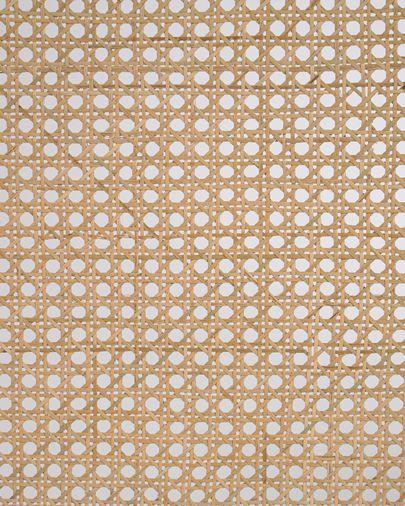 Tête de lit Rexit bois massif et contreplaqué de mindi avec rotin 163 x 65 cm