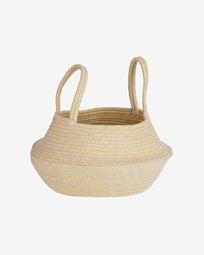 Sibila 100% cotton basket in beige