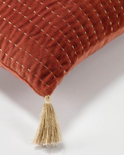 Berenice kastanjebruin ribfluwelen kussensloop 45 x 45 cm