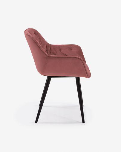 Chair Mulder pink velvet