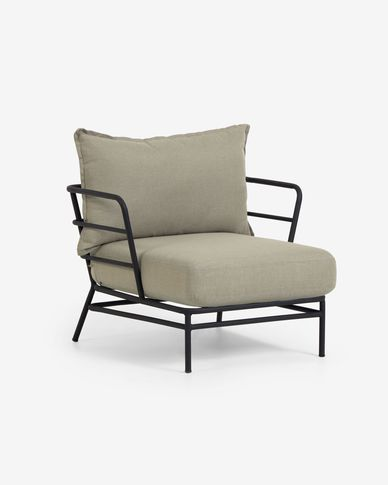 Mareluz black steel armchair
