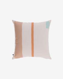 Calantina multicoloured cushion cover with vertical stripes 45 x 45 cm