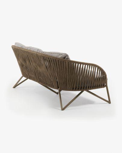 Branzie 3-seater cord sofa in brown180 cm