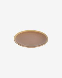 Tilla ceramic dessert plate in light brown