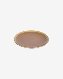 Assiette à dessert Tilia en céramique marron clair