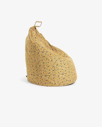 Mustard Bimba pouf Ø 80 cm