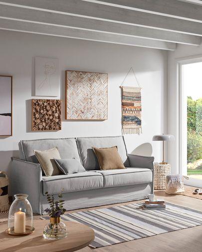 Samsa sofa bed 140 cm polyurethane grey